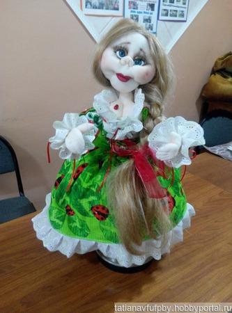 Божья коровка- кукла грелка на чайник ручной работы на заказ