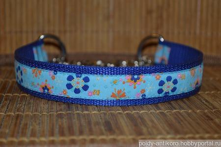 Ошейник для собак Цветочный мартингейл ручной работы на заказ