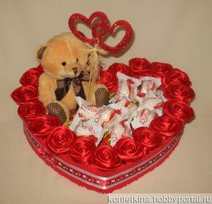 Сердце с конфетами ручной работы на заказ