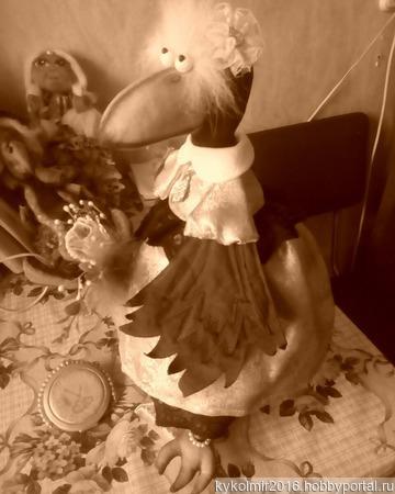 Ворона Клара ручной работы на заказ