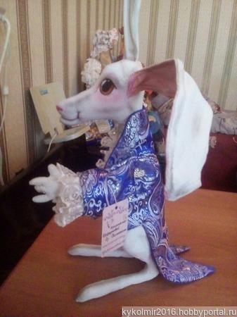Белый кролик ручной работы на заказ