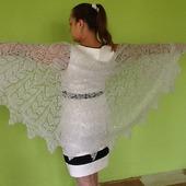 Свадебная шаль в стиле бохо