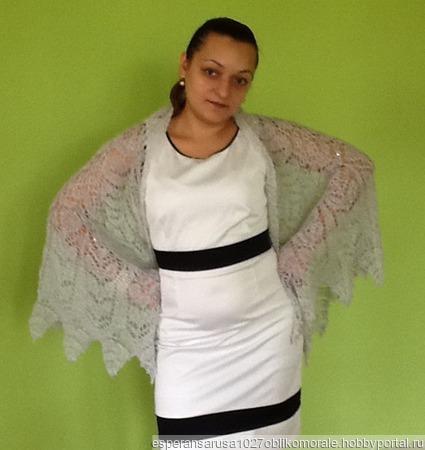 Свадебная шаль в стиле бохо ручной работы на заказ