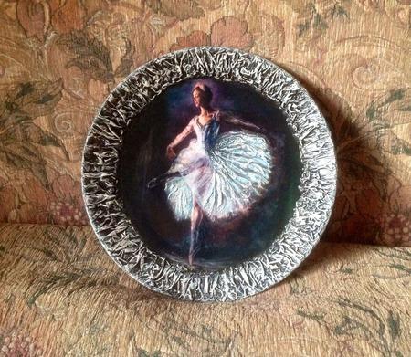 Декоративное панно Балерина ручной работы на заказ