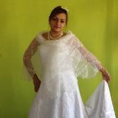 Свадебная шаль из мохера на шелке Ландыш