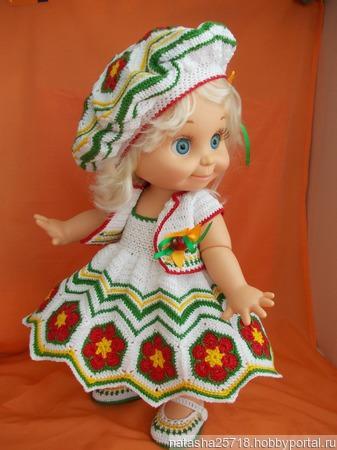 Нарядный комплект на куклу ручной работы на заказ