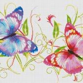 "Схема вышивки ""Бабочки"""
