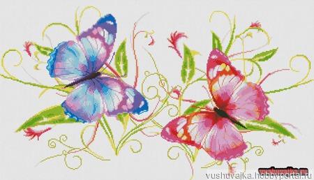 """Схема вышивки """"Бабочки"""" ручной работы на заказ"""