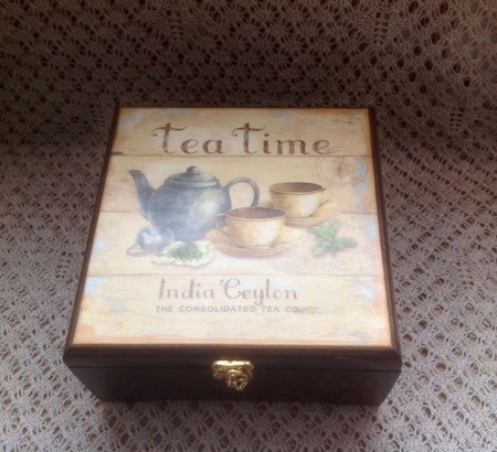 Шкатулка  для чая ручной работы на заказ
