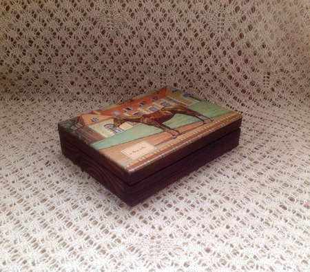 Коробочка для карт или визиток ручной работы на заказ