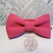 Галстук-бабочка розовая