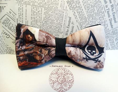 """Галстук-бабочка """"Assassin`s Creed"""" ручной работы на заказ"""