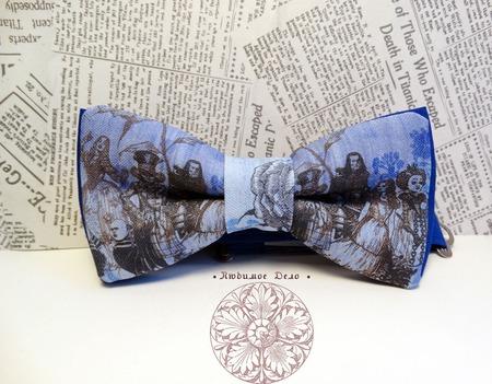 """Галстук-бабочка """"Алиса в стране чудес"""" ручной работы на заказ"""