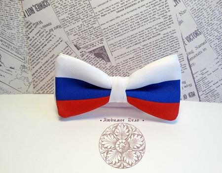 """Галстук-бабочка """"Россия"""" ручной работы на заказ"""