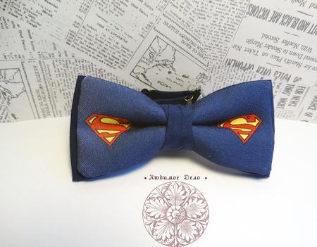 "Галстук-бабочка ""Супермен"" ручной работы на заказ"