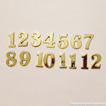 Накладные цифры  4100, 15 мм ручной работы на заказ
