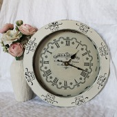 Часы настенные Шебби