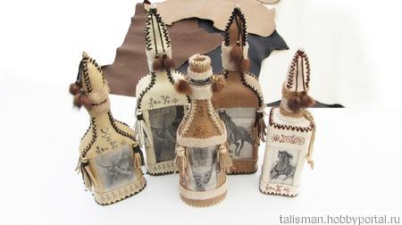 Декоративная бутылка (0,3) ручной работы на заказ