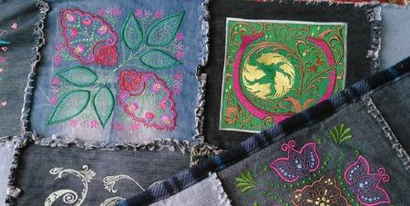 Покрывало(одеяло) пэчворк с вышивкой ручной работы на заказ