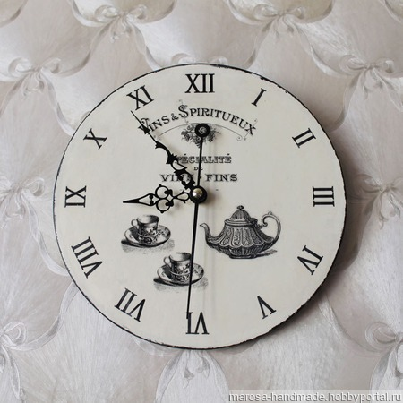 "Часы настенные ""Френч"" ручной работы на заказ"