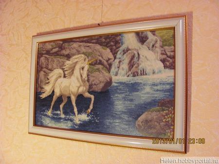 """Картина ручной работы """"Единорог"""" ручной работы на заказ"""
