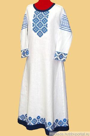 Платье славянское праздничное ручной работы на заказ