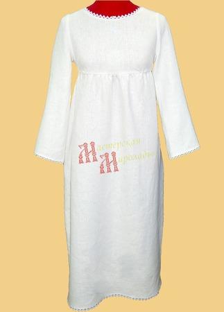 Платье льняное повседневное ручной работы на заказ