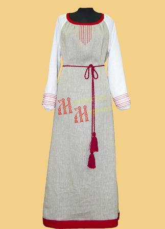 """Льняное женское платье """"Арина"""" ручной работы на заказ"""