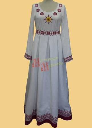 Свадебное в славянском стиле ручной работы на заказ
