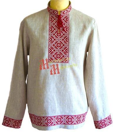 """Рубаха с воротом """"Горицвет"""" ручной работы на заказ"""