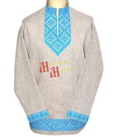 """Рубаха  """"Цветок папоротника"""" ручной работы на заказ"""