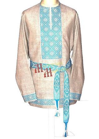 Рубаха воинская Сварга ручной работы на заказ