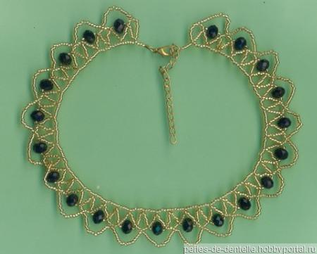 Ожерелье золотистое ручной работы на заказ