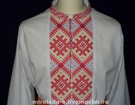 """Рубаха воинская """"Коловрат и Инглия"""" ручной работы на заказ"""