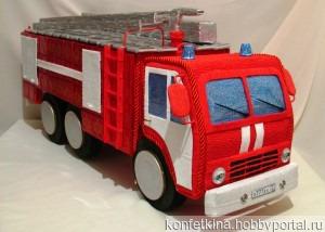 Пожарная машина ручной работы на заказ