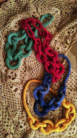 Колье вязаное ручной работы на заказ