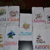 Подарочное полотенце или наволочки с вышивкой