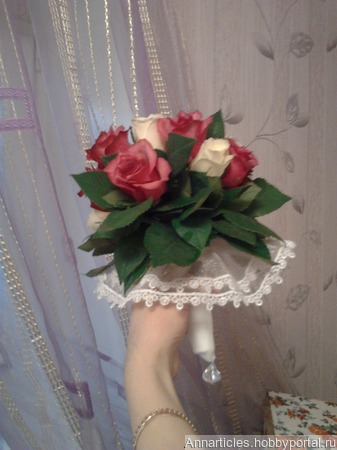 Букет для невесты из живых цветов ручной работы на заказ