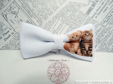 "Галстук-бабочка ""Котята"" ручной работы на заказ"