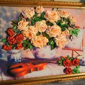 Розы со скрипкой