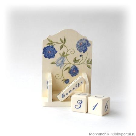 """Набор аксессуаров для сборов невесты """"Синие завитки роз"""" ручной работы на заказ"""