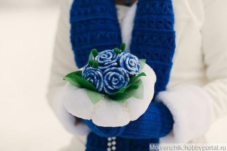 Букет зимней невесты ручной работы на заказ