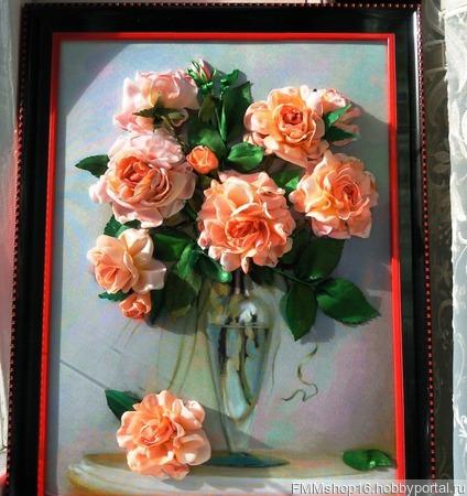 Розы в бокале ручной работы на заказ