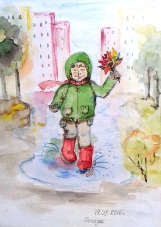 """Иллюстрация """"Осенние радости"""" ручной работы на заказ"""
