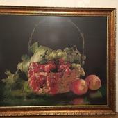 Корзина с виноградом