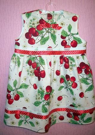 """Платье """"Вишенка"""" ручной работы на заказ"""
