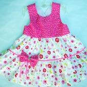 фото: Одежда для девочек — товары для детей (платье с воланами)