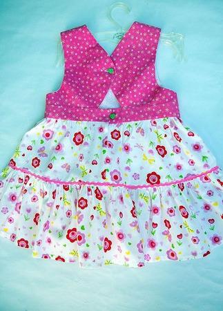 """Платье """"яркие цветочки"""" ручной работы на заказ"""