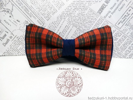 "Галстук-бабочка ""Шотландка"" ручной работы на заказ"