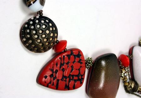 Колье из полимерной глины ручной работы на заказ